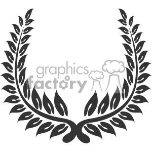 branch wreath design vector art v3 clipart. Royalty.