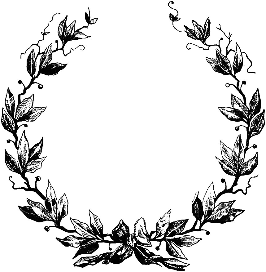 Border With Laurel Wreath Clipart.