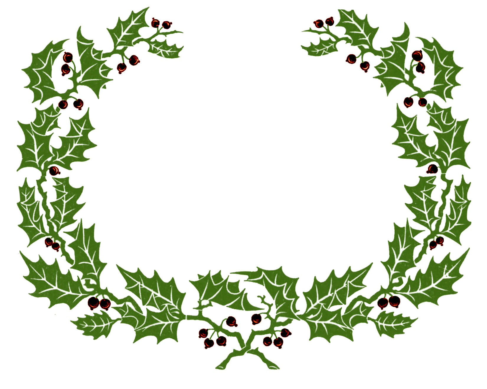 12 Christmas Wreath Frame Images.