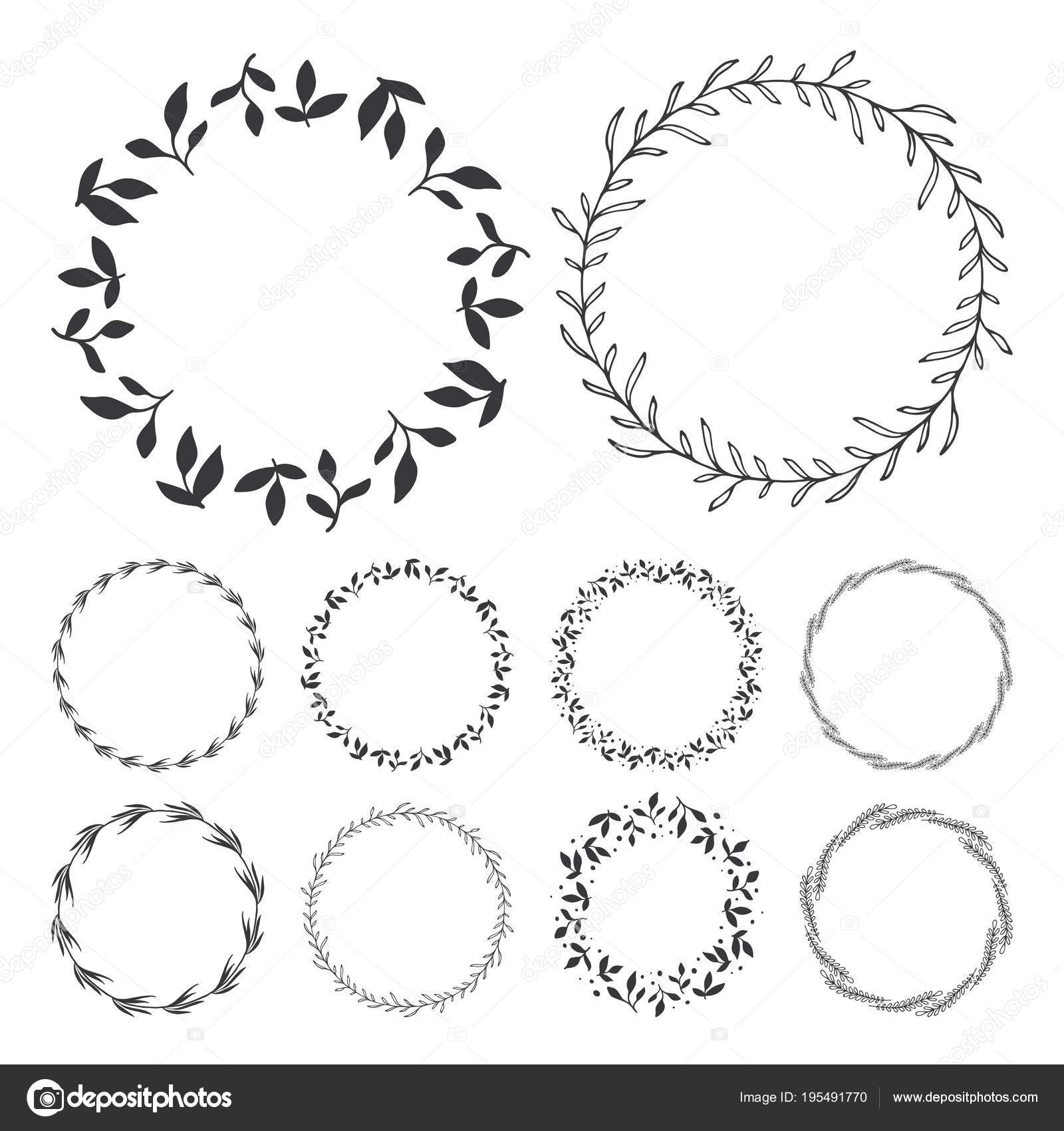 Clipart: floral wreaths.