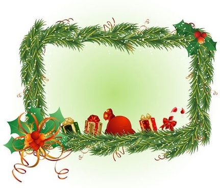 Christmas wreath border free vector download (12,715 Free.