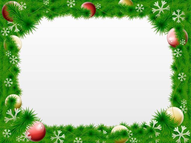 Christmas Wreath Vector Border.