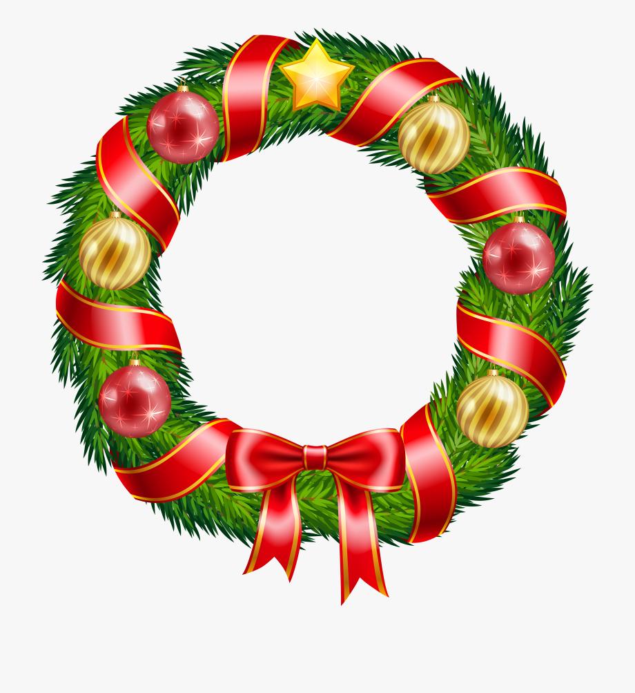 Christmas Wreath Clipart.