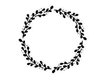 wreath svg dxf file instant download silhouette cameo cricut.