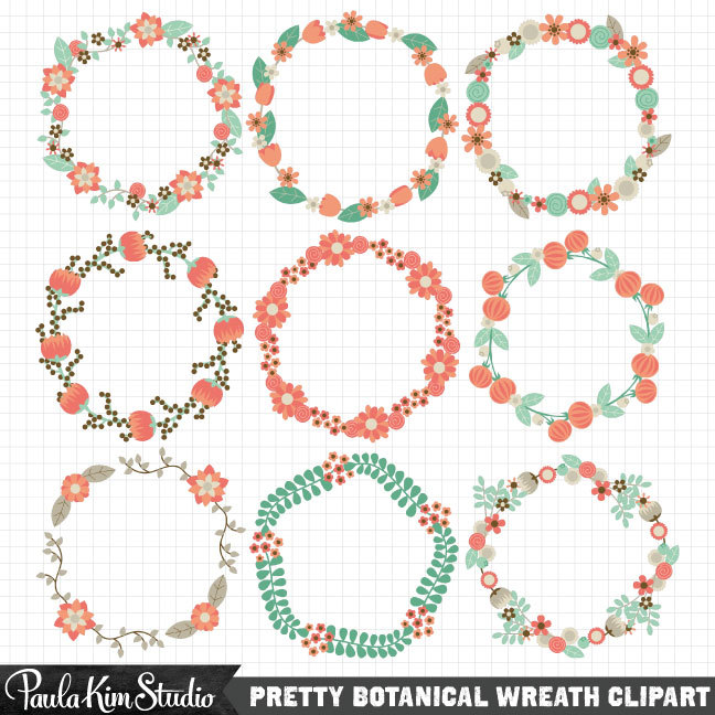 Wreath Tumblr Clipart.