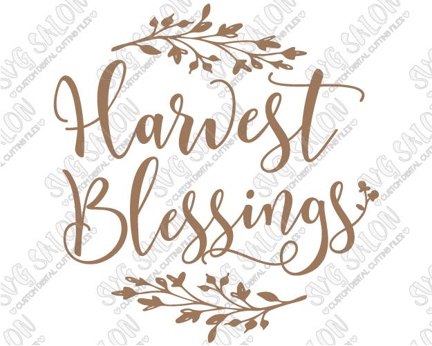 Harvest Blessings Clipart.