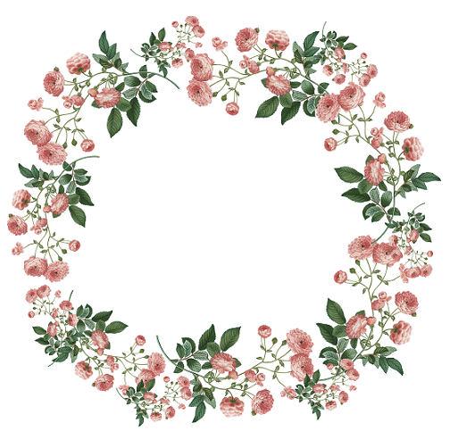 Rose Wreath Clipart.