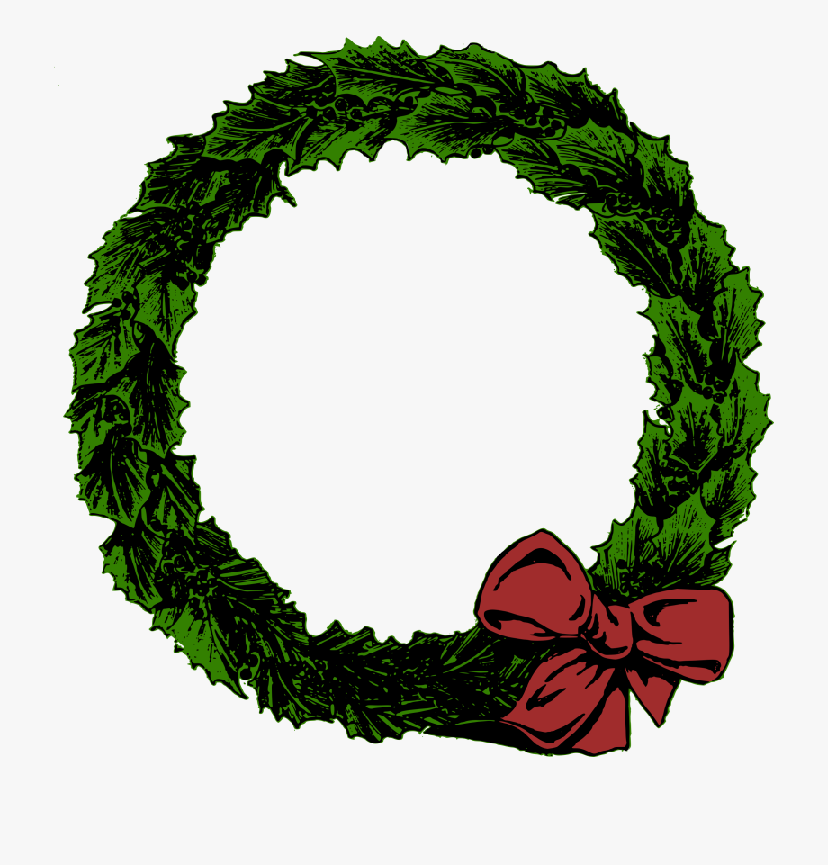 Plain Christmas Wreath Clipart , Transparent Cartoon, Free.