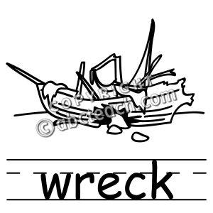 Wreck clipart.