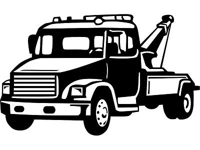 wrecker truck clipart #13
