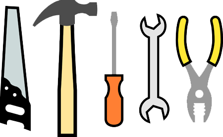 File:Saw, hammer, screwdriver, wrench, pliers.png.