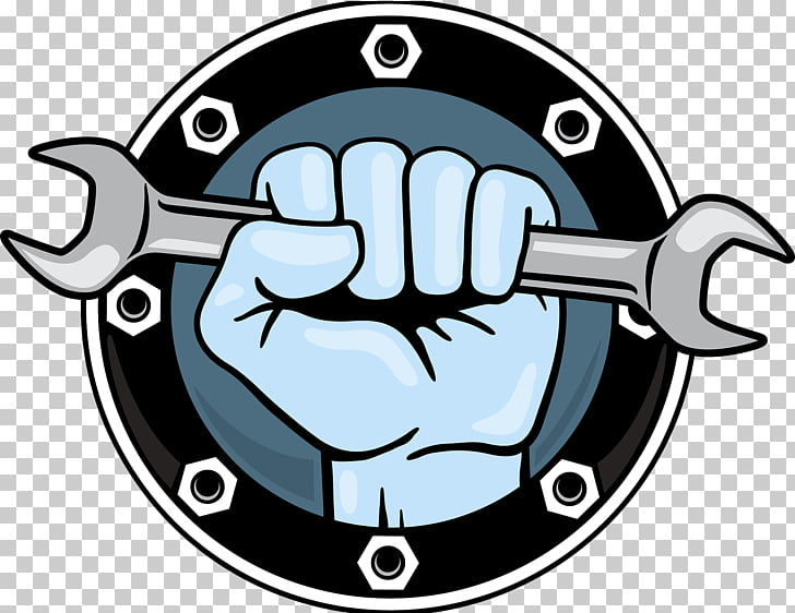 Hand tool Wrench Fist Icon, Decoration company logo, wrench.