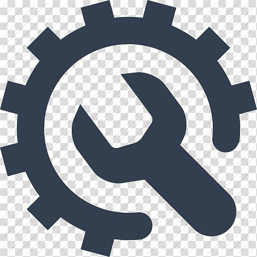 Gear and wrench logo, Configuration management Computer.