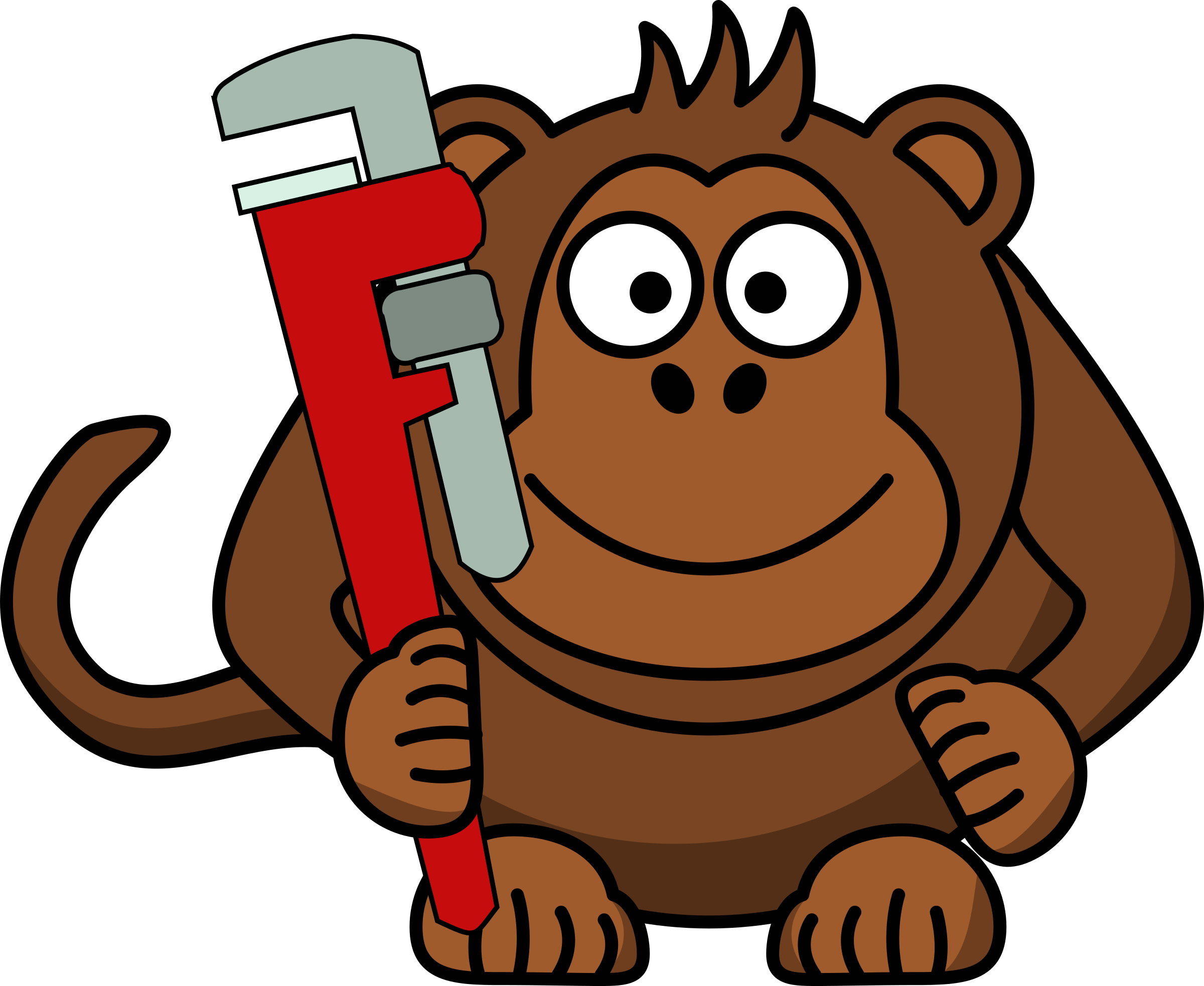 Monkey Wrench Clipart.