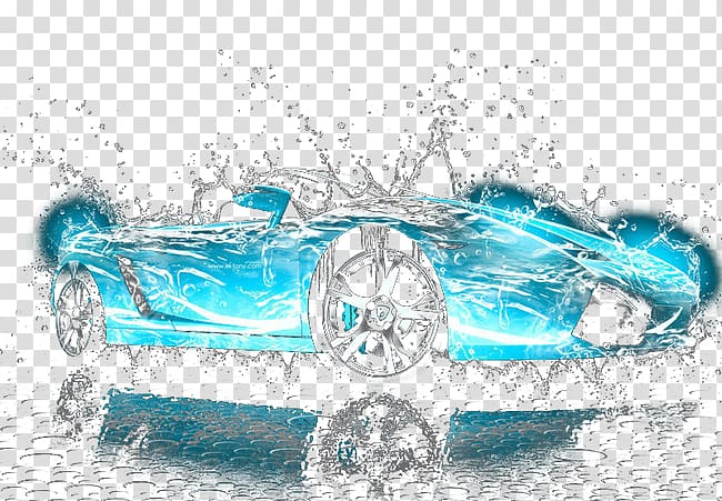 Turquoise Water, car transparent background PNG clipart.