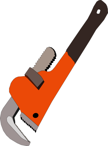 Pipe wrench vector clip art.