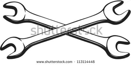 Crossed Wrenches Clipart.