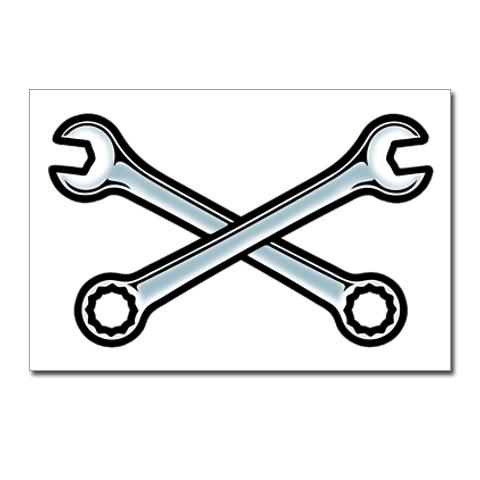 Crossed Wrenches Clip Art.
