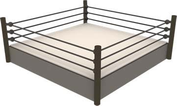 Wrestling ring clip art.