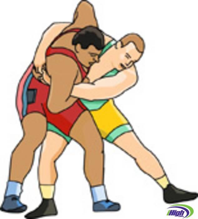 Wrestling icon clipart.