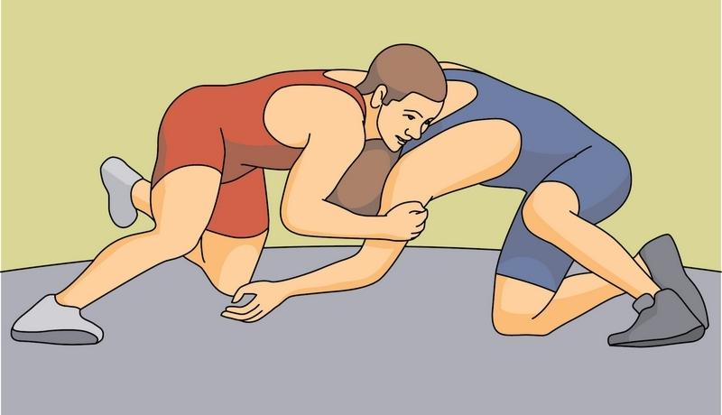 Wrestling Clipart.