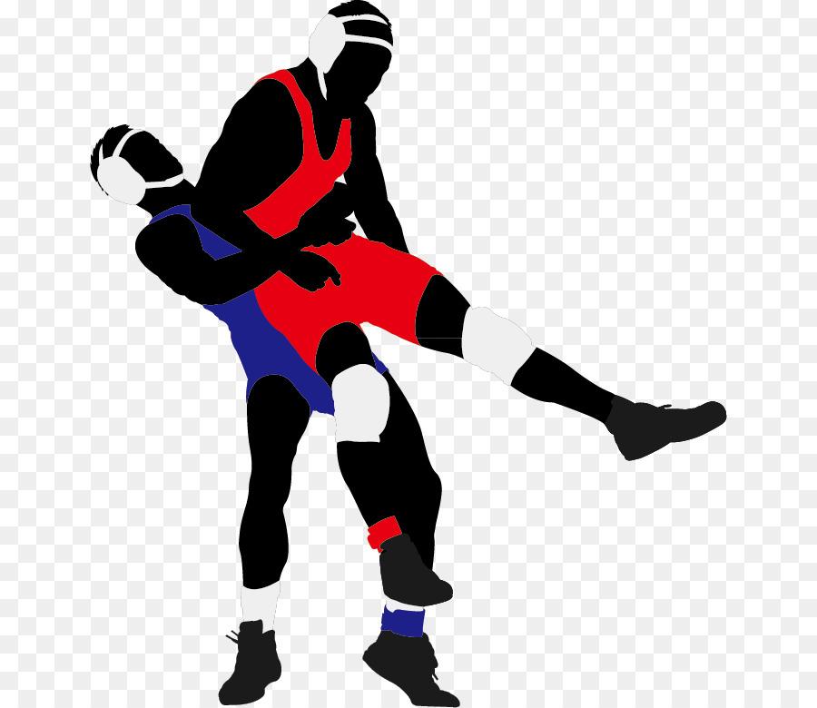 Wrestling Lucha libre Silhouette Clip art.