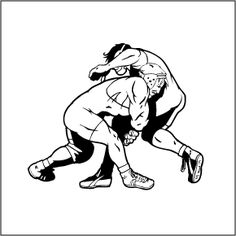 drawings of wrestlers.