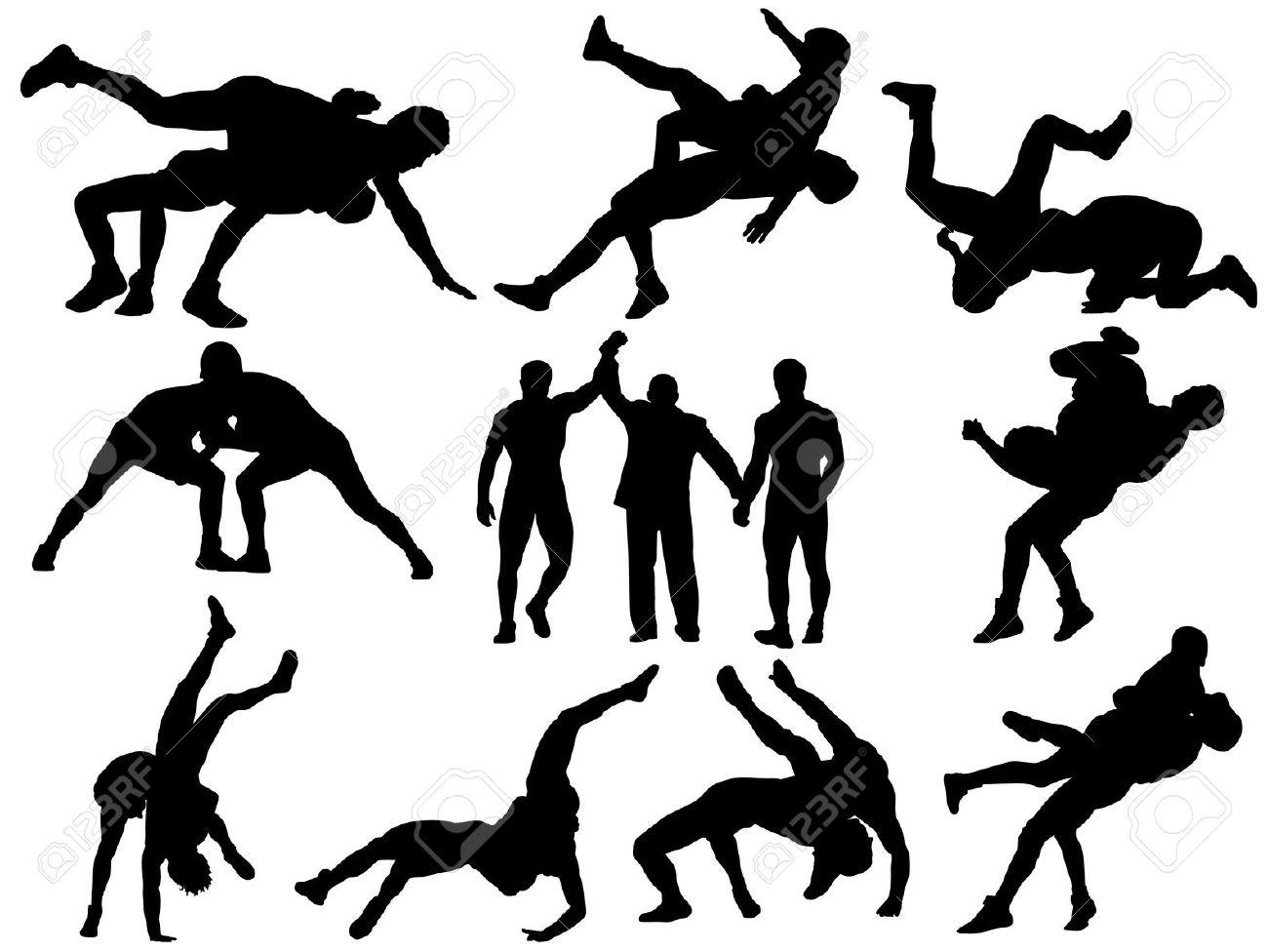 Neck wrestling clipart #4