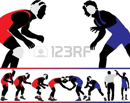 4,348 Wrestling Stock Vector Illustration And Royalty Free.
