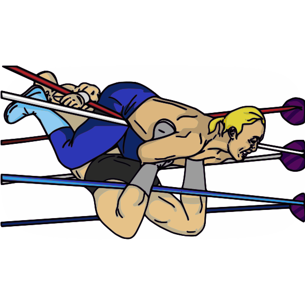 Professional wrestling maneuver vector image.