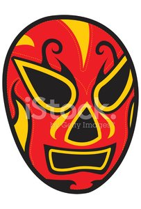 mexican wrestler mask Clipart Image.
