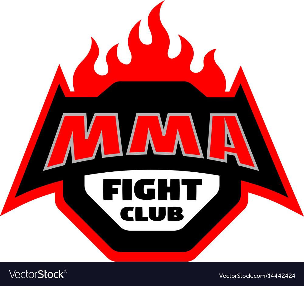 Mma fight club logo.
