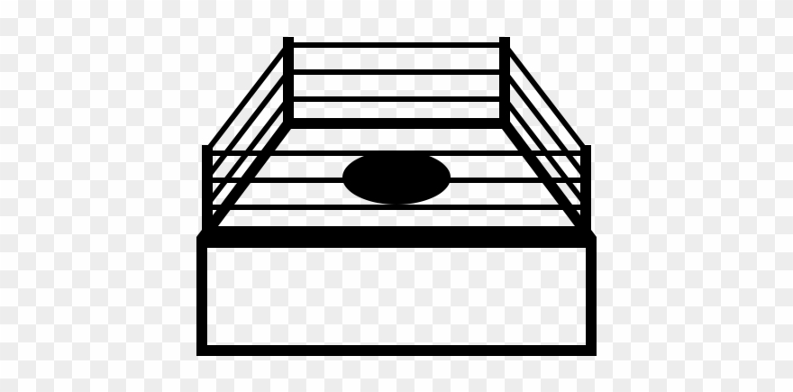 Boxing Ring Rubber Stamp.