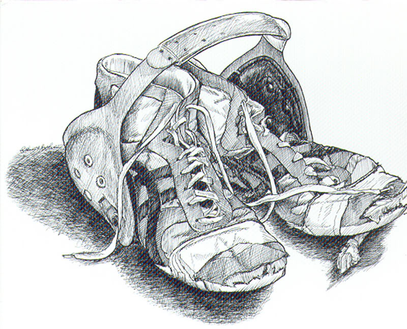 Wrestling Shoe Clipart.
