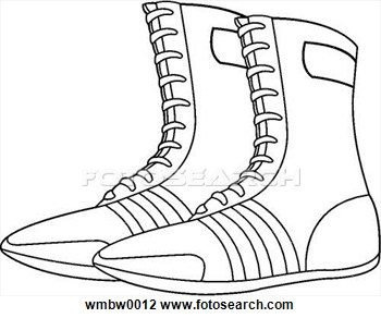 Wrestling Shoe Clipart.