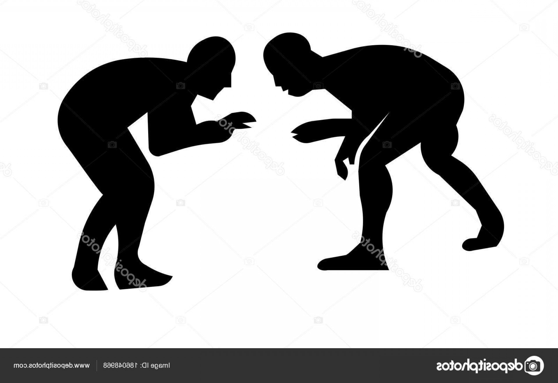 Stock Illustration Wrestling Silhouette Clip Art On.
