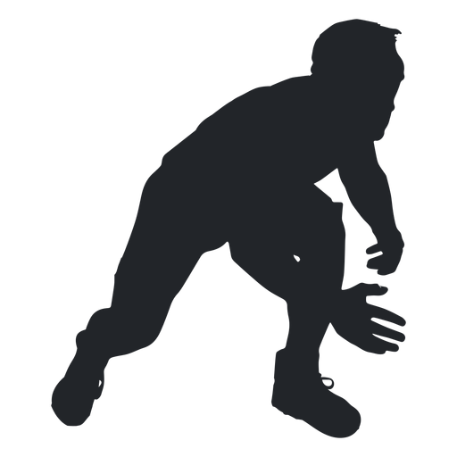 Man wrestler silhouette.