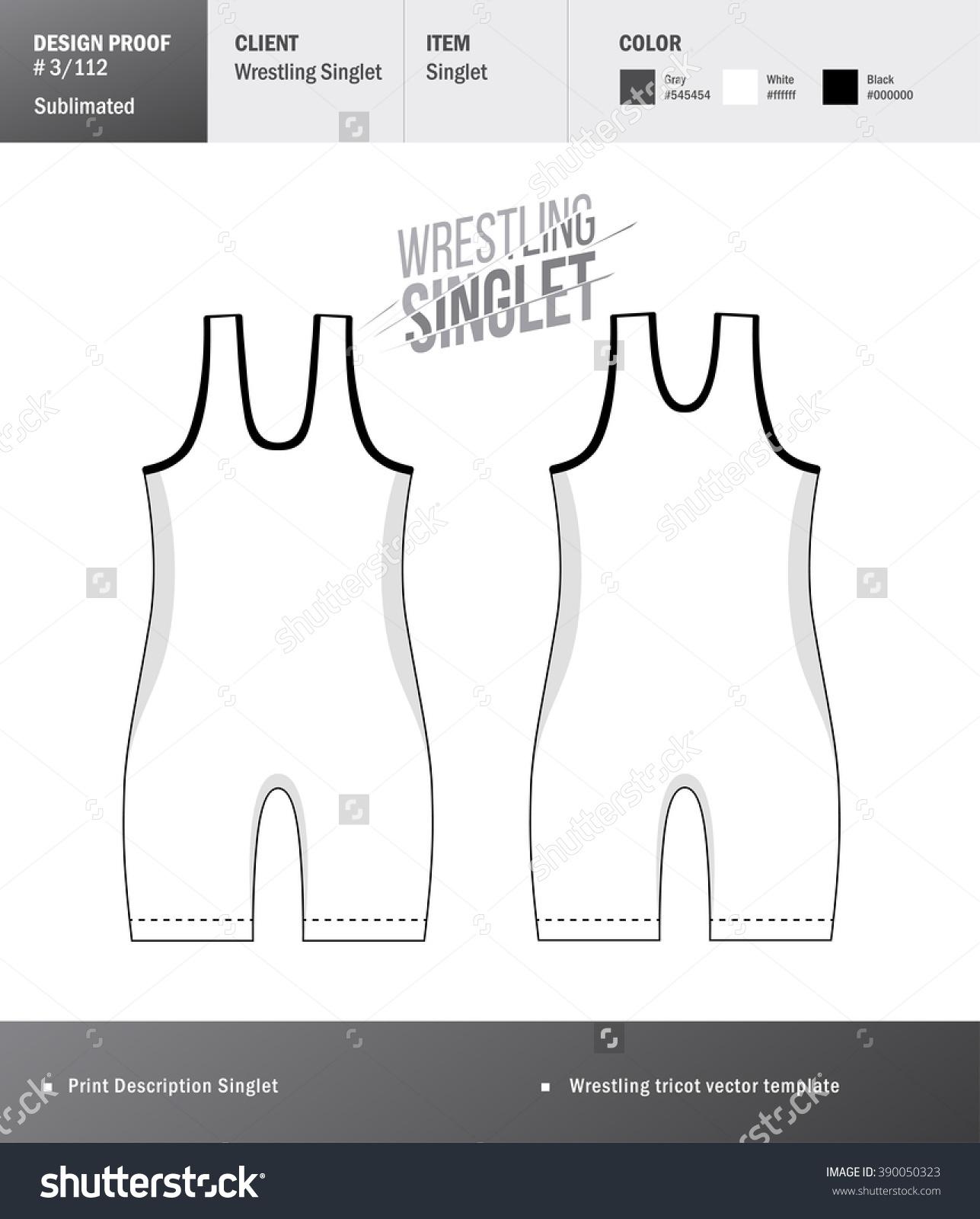 Singlet Vector Template Wrestling Tricot Design Stock Vector.