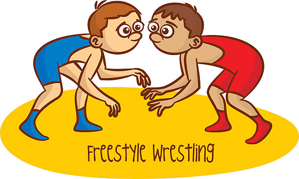 Best Kids Wrestling Illustrations, Royalty.