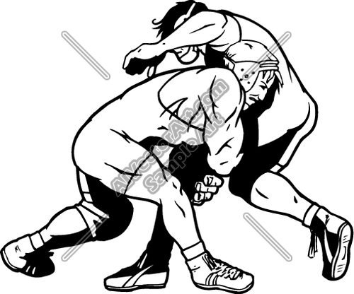 WRESTLING7 Clipart and Vectorart: Sports.