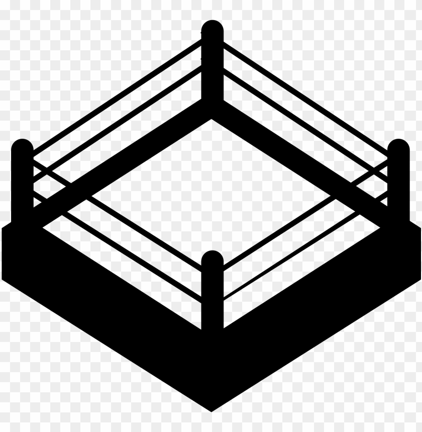 boxing vector ring.