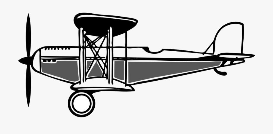Biplane Clipart Black And White.