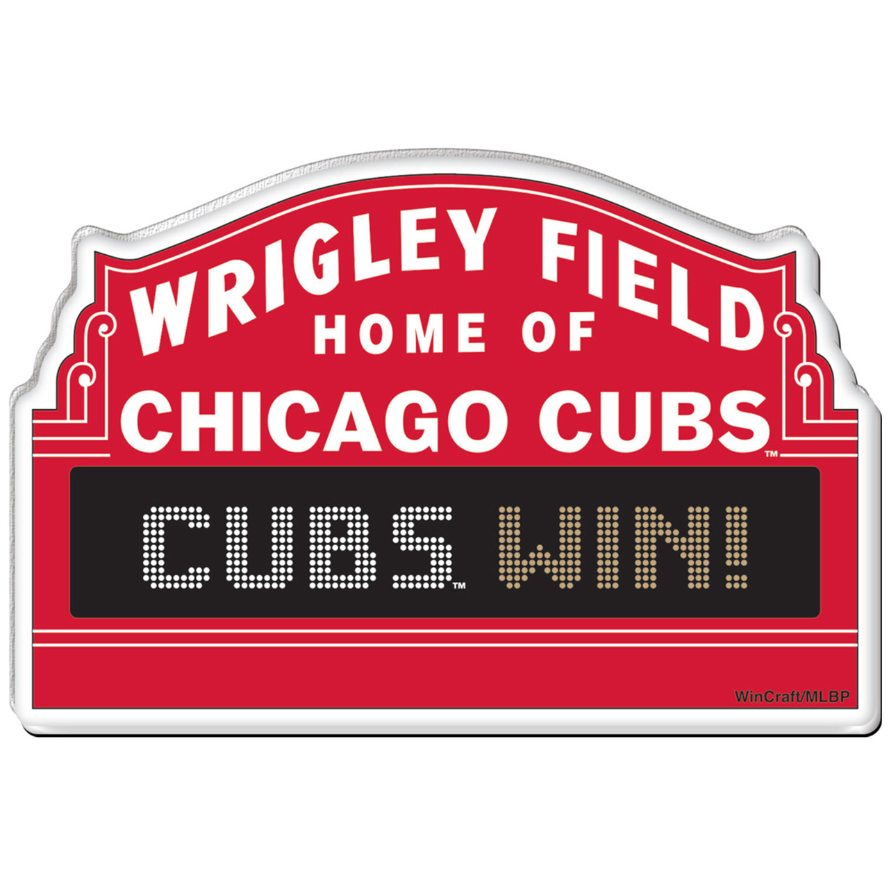 Chicago Cubs Wrigley Field Marquee Premium Acrylic Magnet by WinCraft.
