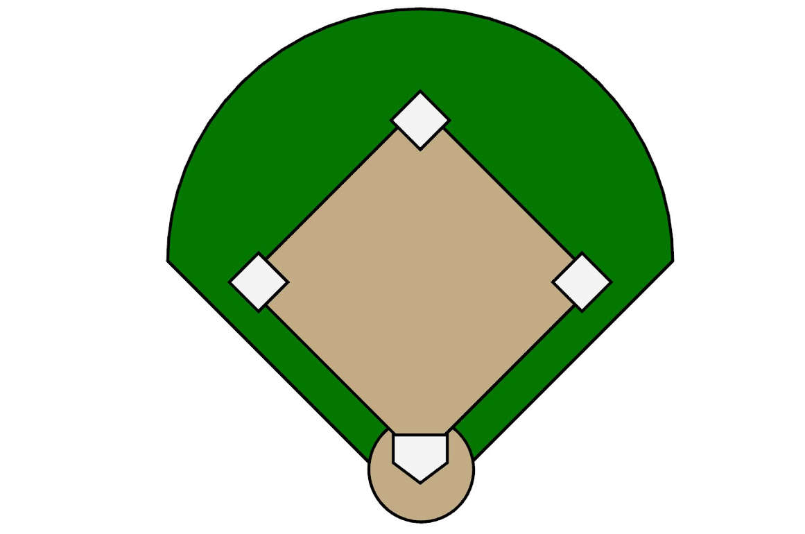 Wrigley field clipart outline.