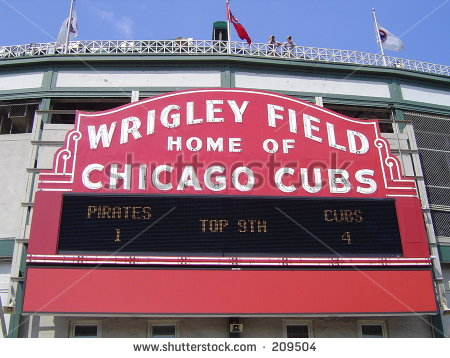 Wrigley Field Stock Images, Royalty.