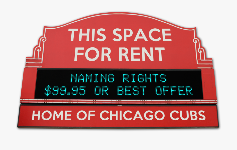 Wrigley Field Sign For Rent.