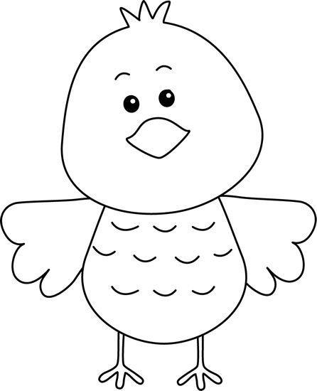black and white clip art free birds.