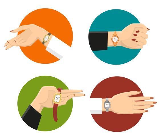 Women Wrist Watches Design Concept.