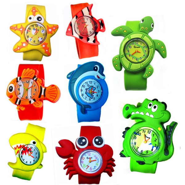 Cute Animal Cartoon Slap Snap Watch Multicolor Kids Quartz Watch Gift Novel  Fashion Watches Silicone Wrist Watch For Children Gift Watches For Sale.