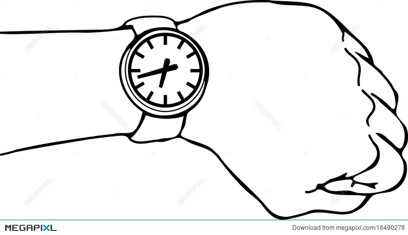 Wrist Watch Arm Illustration 16490278.